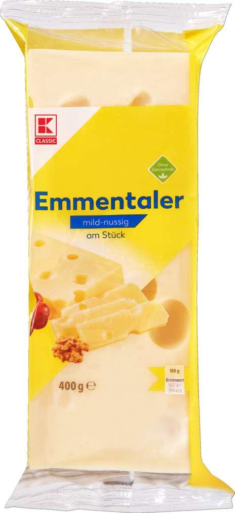 Abbildung des Sortimentsartikels K-Classic Dt.Emmentaler Stücke 45% Fett i.Tr. 400g