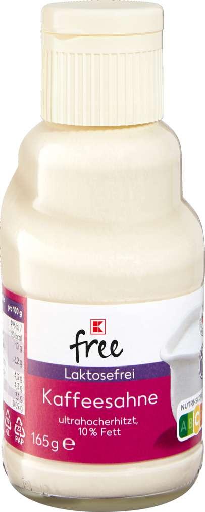 Abbildung des Sortimentsartikels K-free Laktosefrei Kaffeesahne 10% 165g