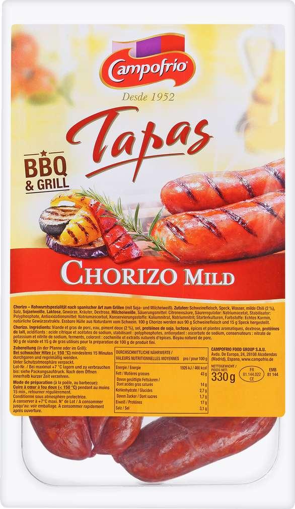 Abbildung des Sortimentsartikels Campofrio Tapas Chorizo mild 3x110g
