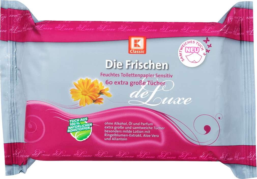 Abbildung des Sortimentsartikels K-Classic Die Frischen Feuchtes Toilettenpapier Sensitiv 60 Stück