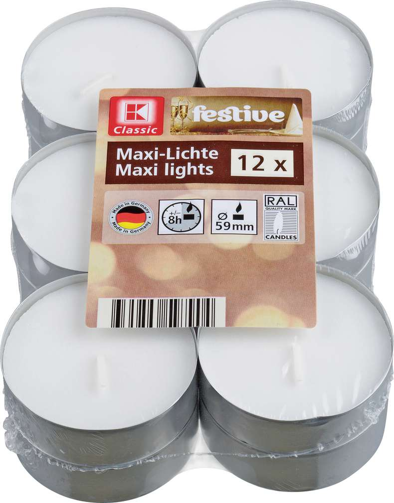 Abbildung des Sortimentsartikels K-Classic Maxilichter 12 Stück