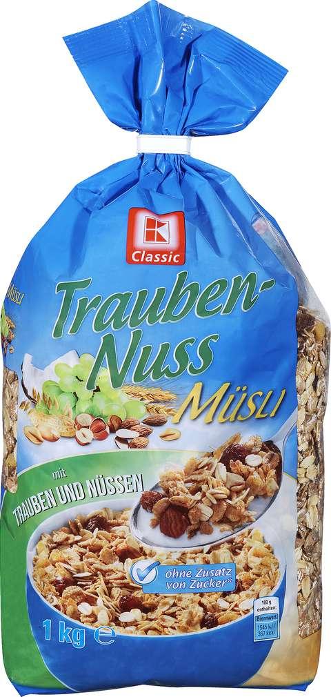 Abbildung des Sortimentsartikels K-Classic Trauben-Nuss Müsli 1kg