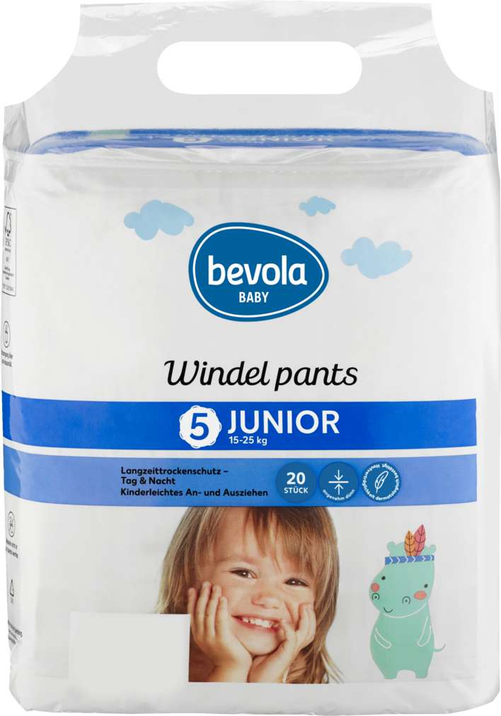 Abbildung des Sortimentsartikels Bevola Windeln Pants Junior 15-25kg 20 Stück