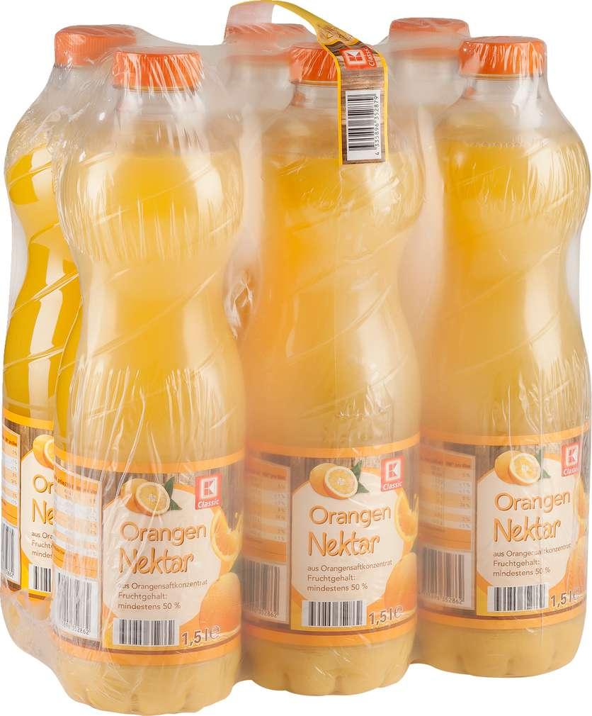 Abbildung des Sortimentsartikels K-Classic Orangen-Nektar 6x1,5l