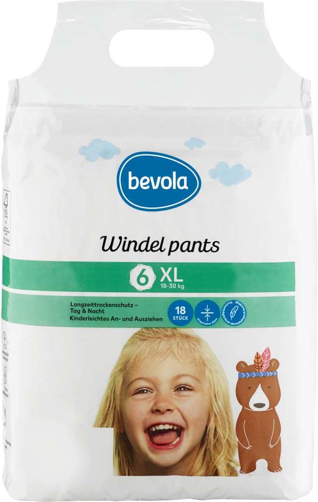Abbildung des Sortimentsartikels Bevola Windeln Pants XL 18-30kg 18 Stück