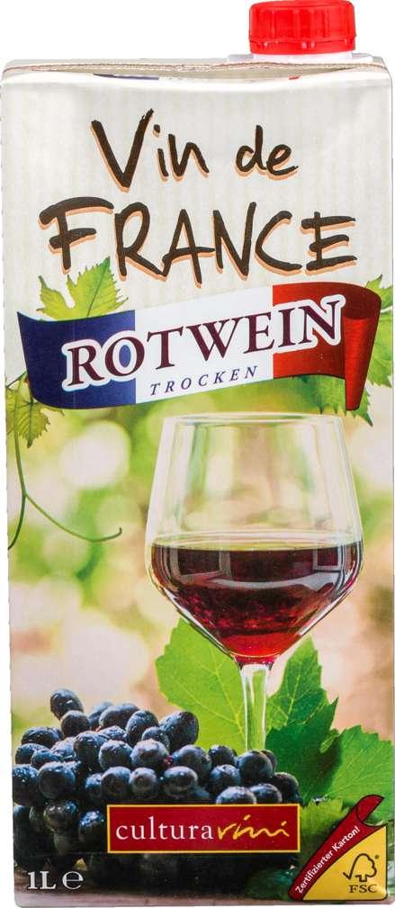 Abbildung des Sortimentsartikels Cultura Vini Landwein Rot Frankreich trocken 1,0l