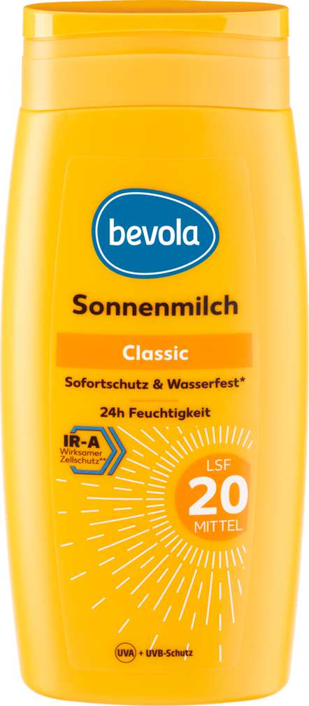 Abbildung des Sortimentsartikels Bevola Bevola Sonnenschutz Milch LSF20 250ml