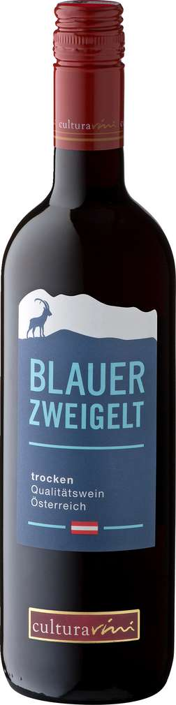 Abbildung des Sortimentsartikels Cultura Vini Blauer Zweigelt Österreich trocken 0,75l