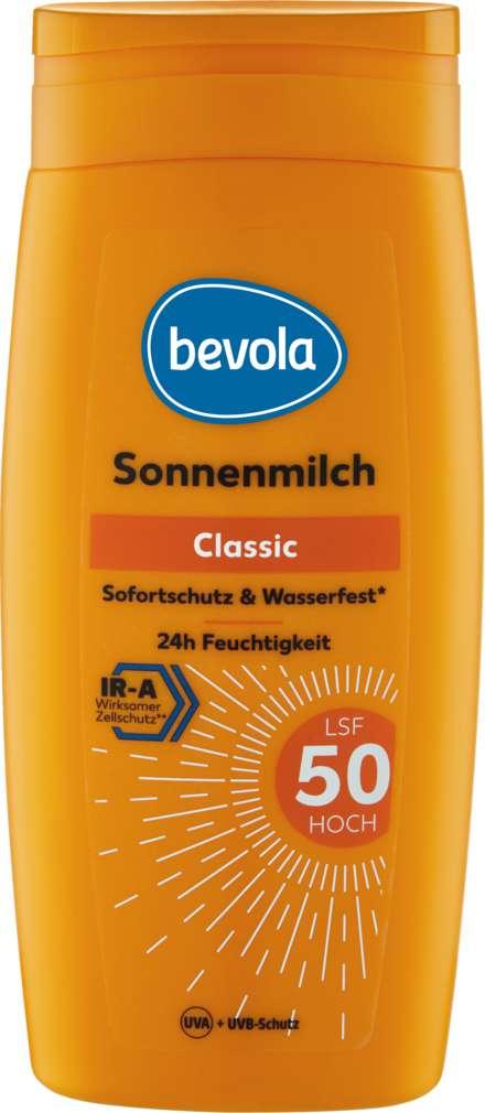 Abbildung des Sortimentsartikels Bevola Sonnenschutz Milch LSF50 250ml