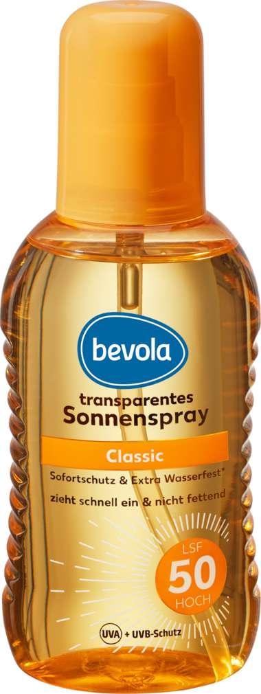 Abbildung des Sortimentsartikels Bevola Sonnenschutz Spray Tranparent LSF50 200ml