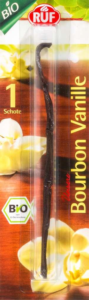 Abbildung des Sortimentsartikels Ruf Bio-Bourbon-Vanille-Schote 2,8g