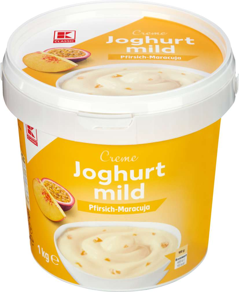 Abbildung des Sortimentsartikels K-Classic Joghurt mild Pfirsich-Maracuja 1kg