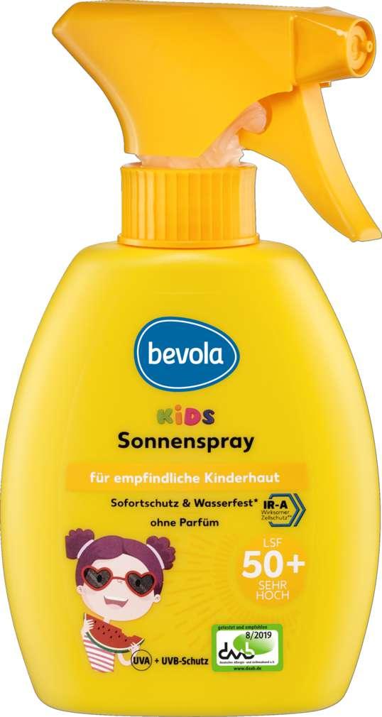 Abbildung des Sortimentsartikels Bevola Sonnenschutz Spray Kids LSF50 xxml