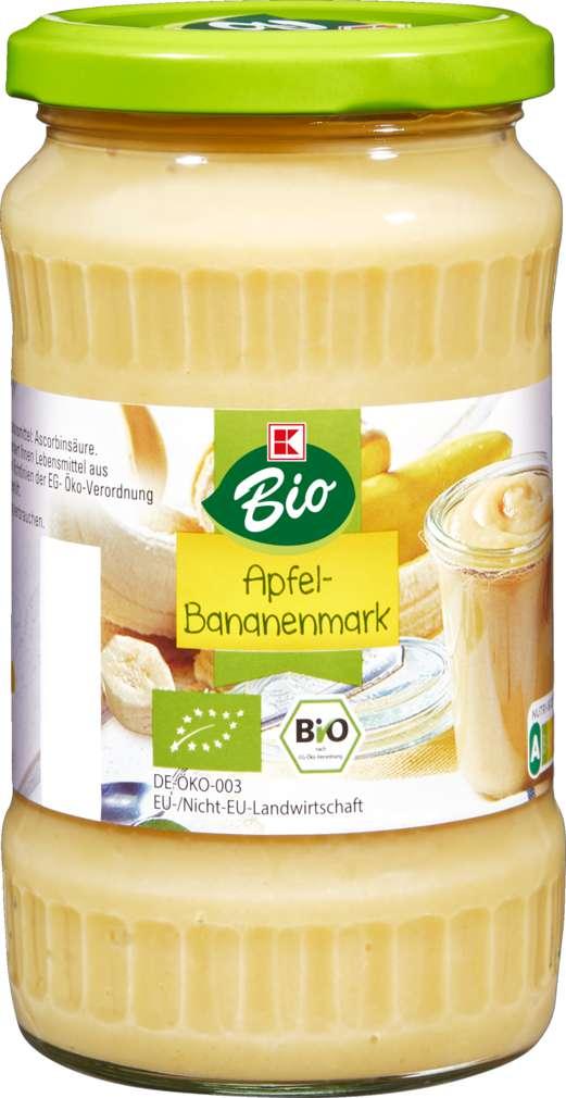 Abbildung des Sortimentsartikels K-Bio Apfel-Bananen-Mark 370ml