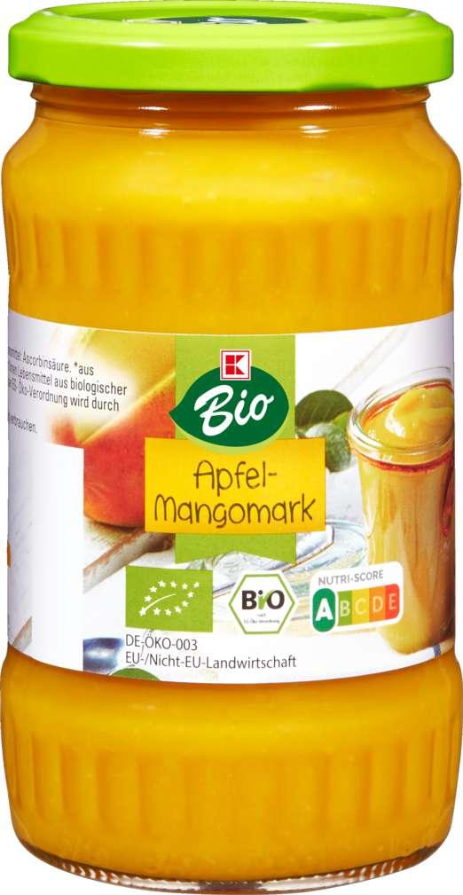 Abbildung des Sortimentsartikels K-Bio Apfel-Mango-Mark 370ml