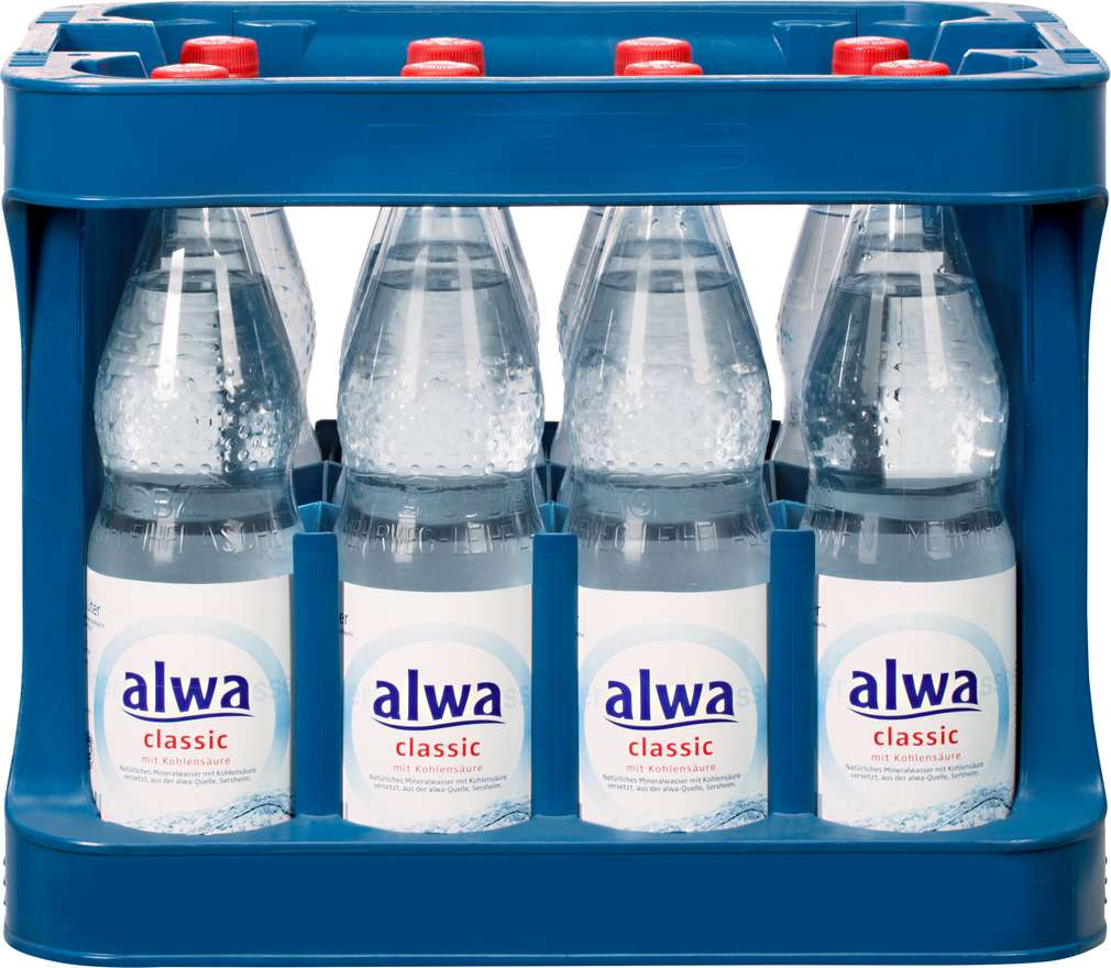 Abbildung des Sortimentsartikels Alwa Classic Mineralwasser Mehrweg PET 12x1,0l