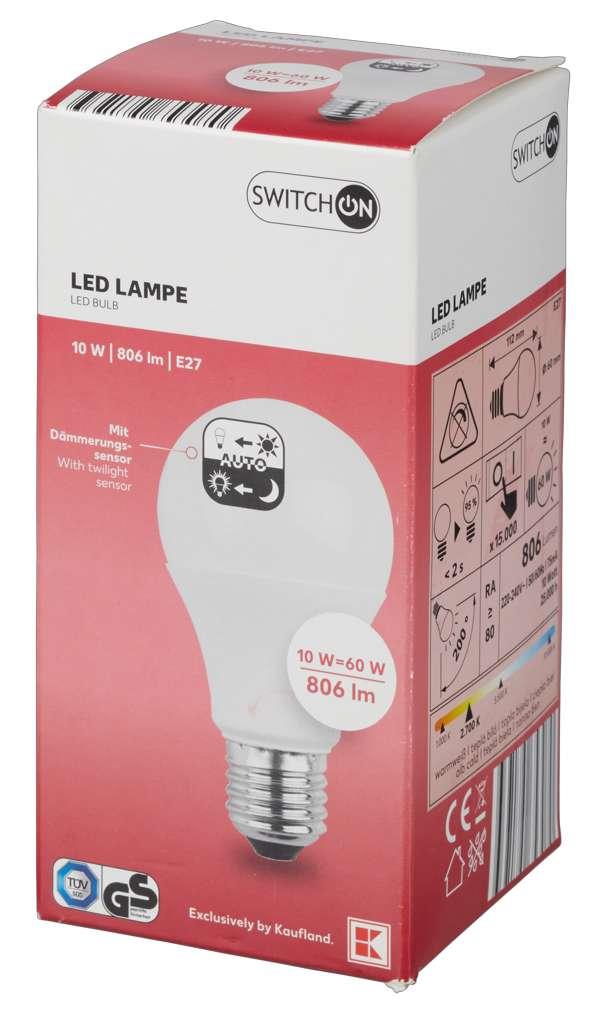 Abbildung des Sortimentsartikels Switch On LED Birne mit Dämmerungssensor
