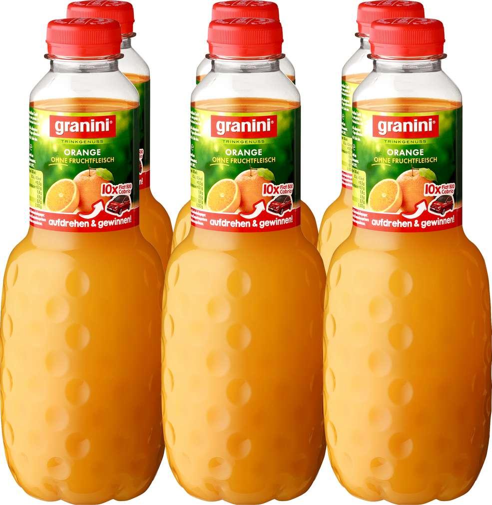 Abbildung des Sortimentsartikels Granini Orangensaft 6x1l
