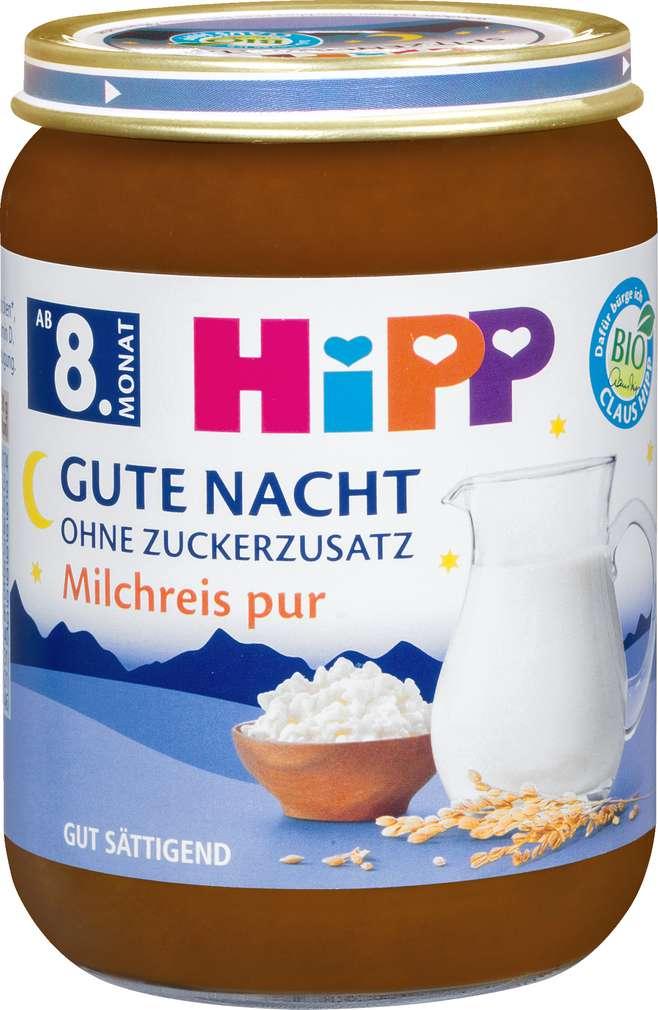 Abbildung des Sortimentsartikels Hipp Gute Nacht Milchreis pur 190g
