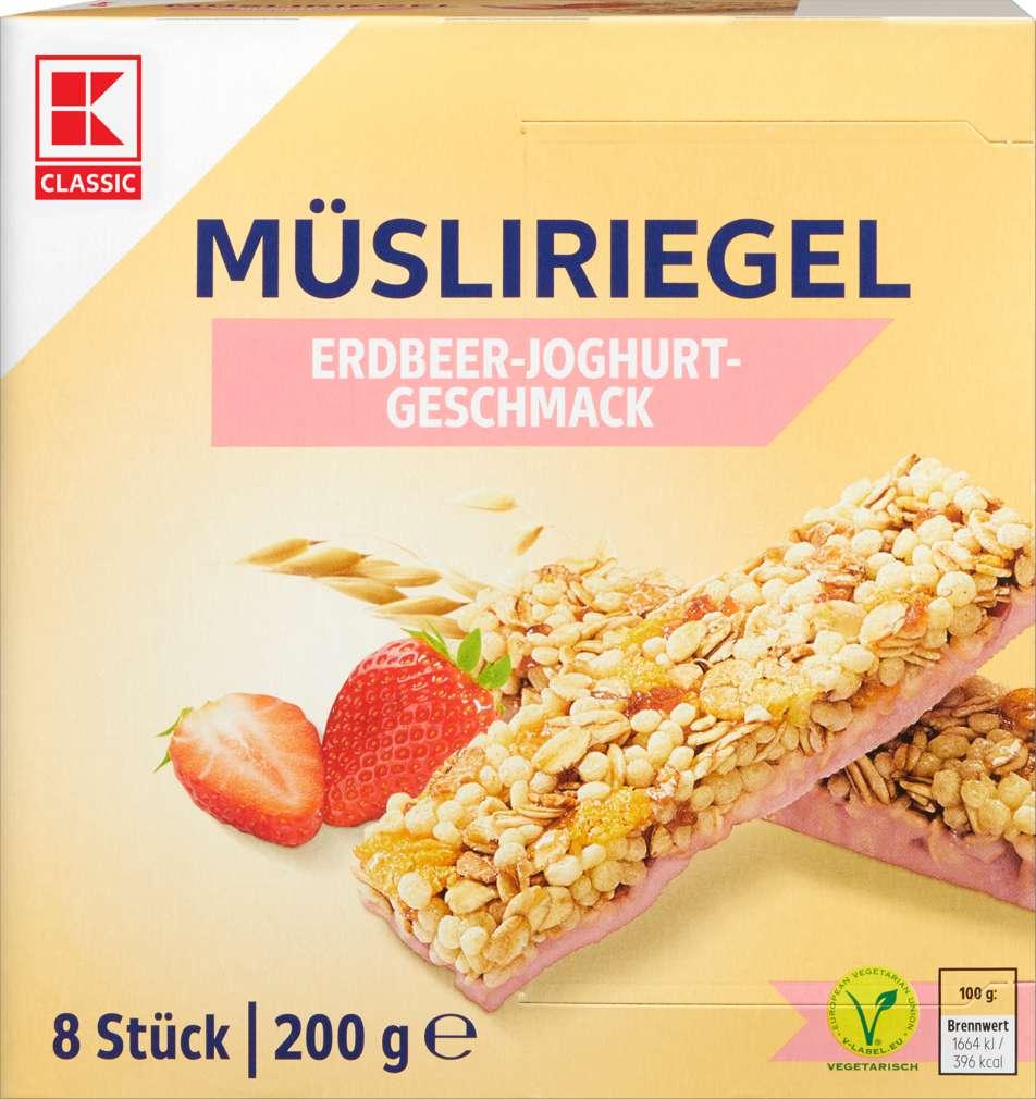 Abbildung des Sortimentsartikels K-Classic Müsliriegel Erdbeer-Joghurt 8x25g