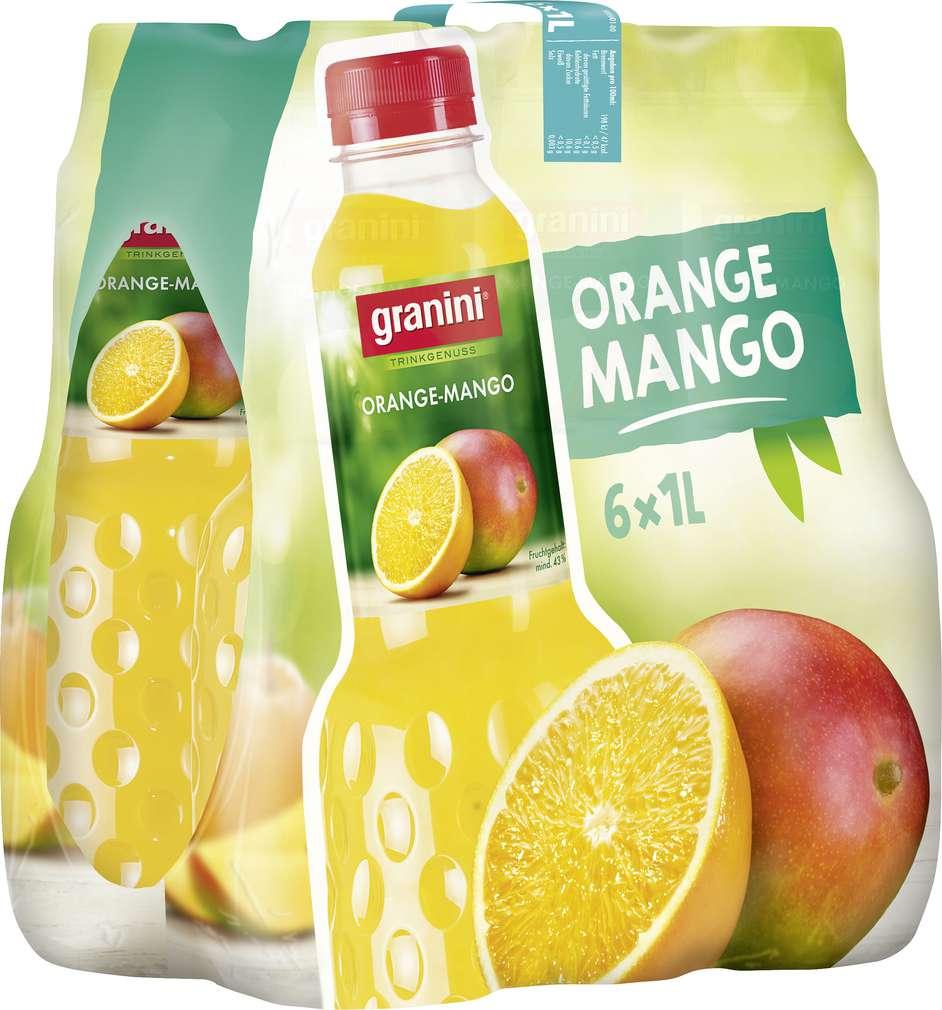 Abbildung des Sortimentsartikels Granini Orange-Mango-Nektar 6x1l