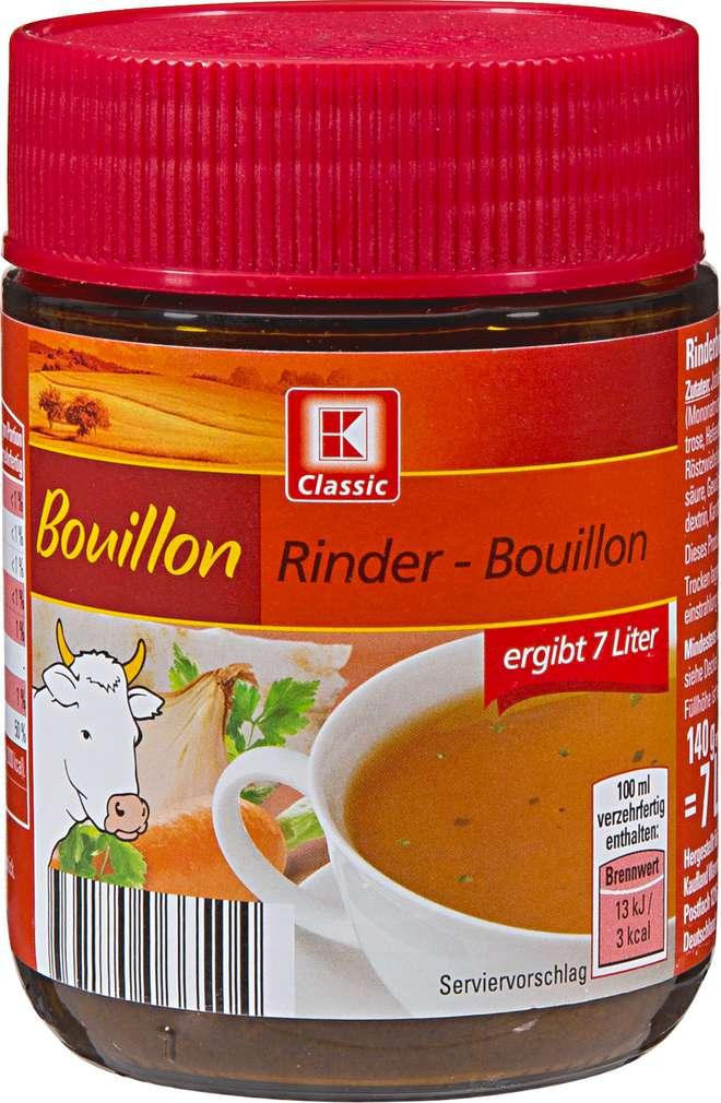Abbildung des Sortimentsartikels K-Classic Rinder Boullon 140g