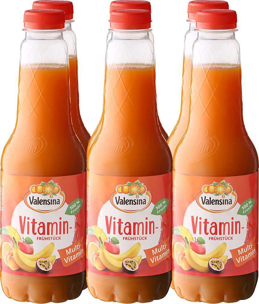 Abbildung des Sortimentsartikels Valensina Multivitaminsaft Vitaminfrühstück 6x1l