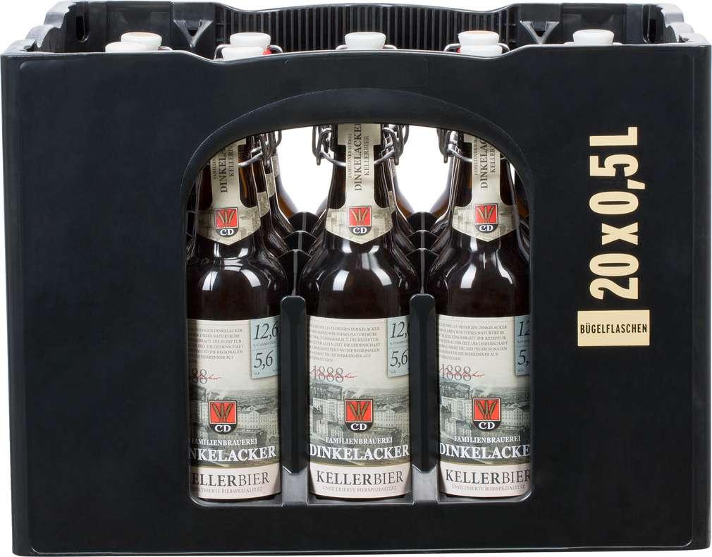 Abbildung des Sortimentsartikels Dinkelacker Cluss Kellerbier Bügelverschluss 20/0,5l