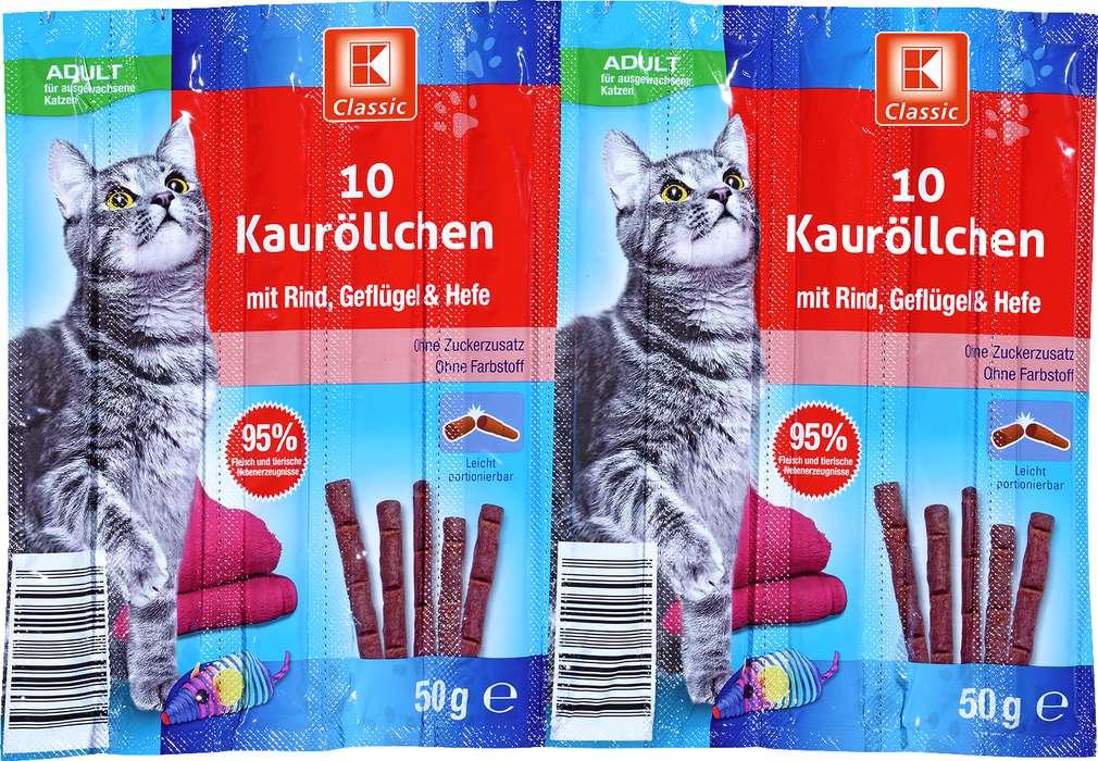 Abbildung des Sortimentsartikels K-Classic Kaurolle mit Rind, Geflügel & Hefe 10x5g