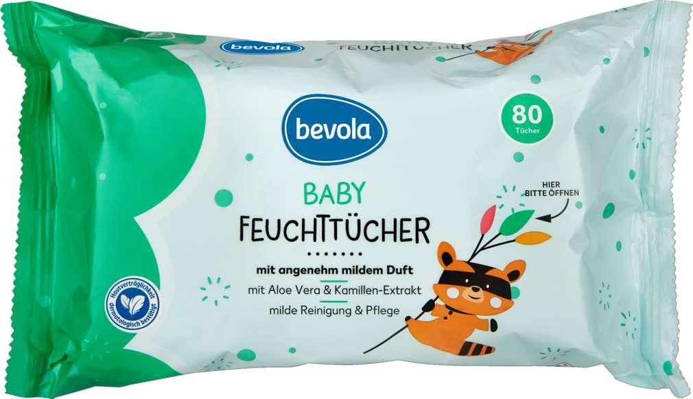 Abbildung des Sortimentsartikels Bevola Baby Feuchttücher 80 Stück