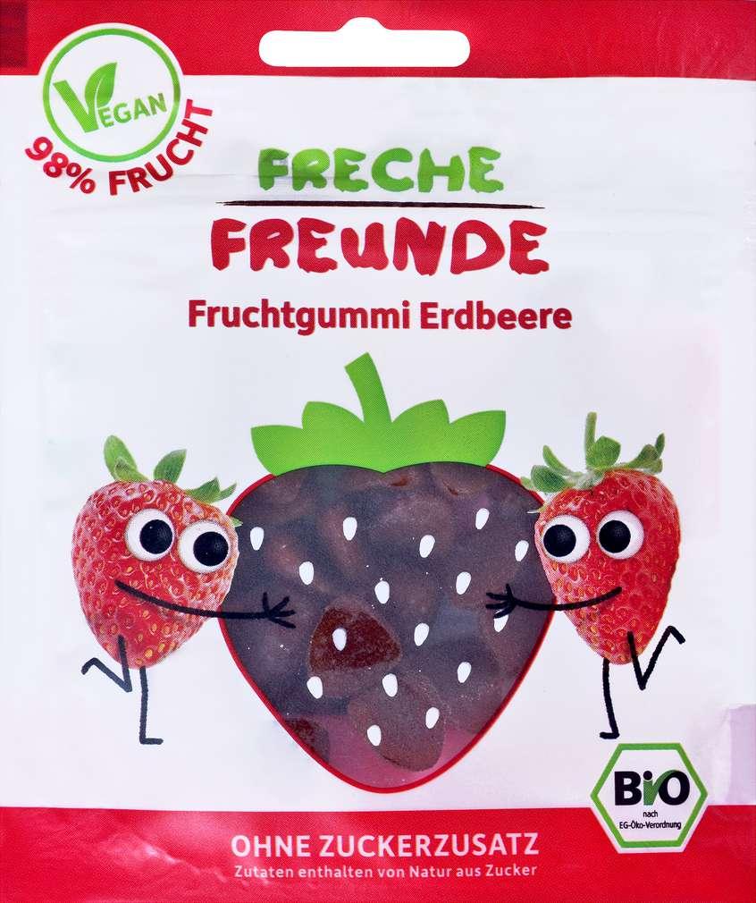 Abbildung des Sortimentsartikels Hipp Freche Freunde Bio Fruchtgummi Erdbeere 30g