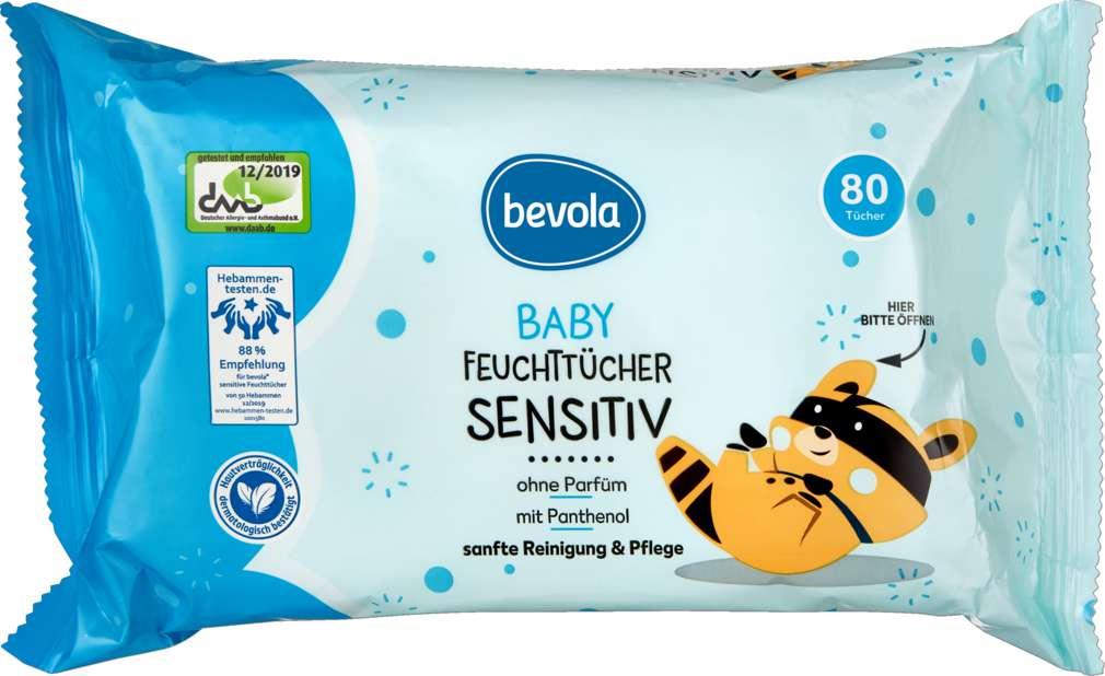 Abbildung des Sortimentsartikels Bevola Baby Feuchttücher Sensitive 80 Stück