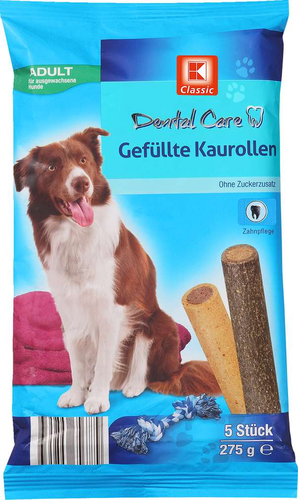 Abbildung des Sortimentsartikels K-Classic Dental Care Gefüllte Kaurolle 5x55g