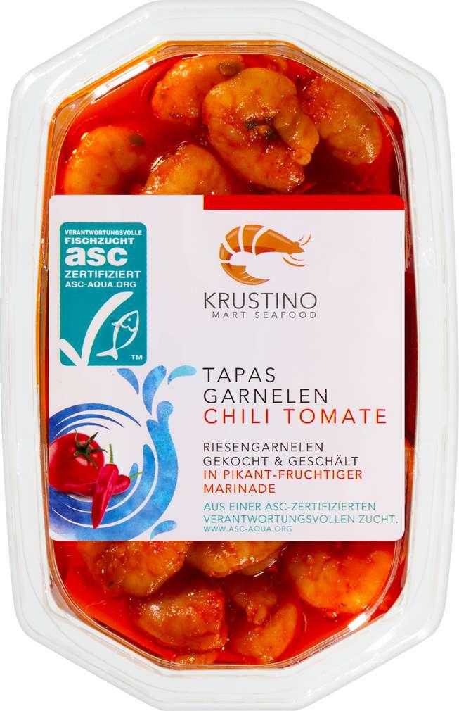 Abbildung des Sortimentsartikels Klaas Puul ASC Garnelen in Öl Tomate-Chilli 100g