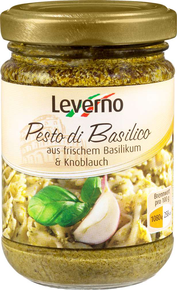 Abbildung des Sortimentsartikels Leverno Pesto Di Basilico 130g