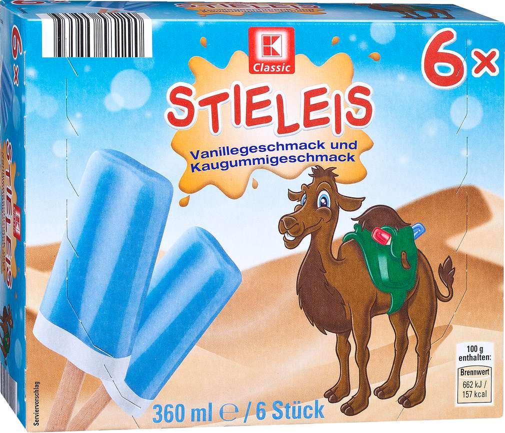 Abbildung des Sortimentsartikels K-Classic Stieleis Vanillegeschmack und Kaugummigeschmack 6x60ml