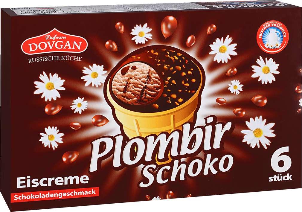 Abbildung des Sortimentsartikels Dovgan Plombir Schoko 6x120ml