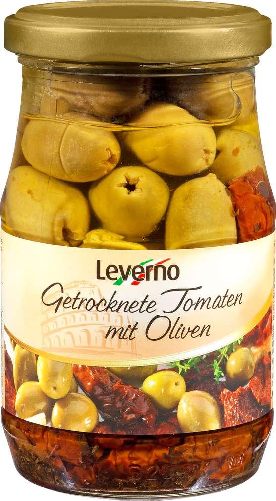 Abbildung des Sortimentsartikels Leverno Getrocknete Tomaten/Oliven 314ml