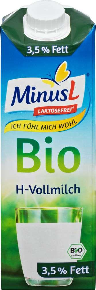 Abbildung des Sortimentsartikels MinusL Bio-H-Vollmilch lf 3,5 Fett 1,0l
