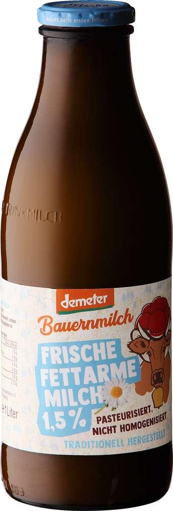 Abbildung des Sortimentsartikels Demeter Bio-Frischmilch fettarme Milch 1,5% Fett 1,0l