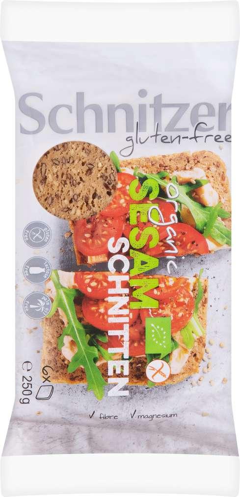Abbildung des Sortimentsartikels Schnitzer Bio-Sesam Schnitten lfgf 250g
