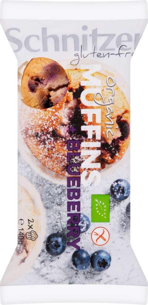 Abbildung des Sortimentsartikels Schnitzer Bio-Muffin Blueberry gf 140g
