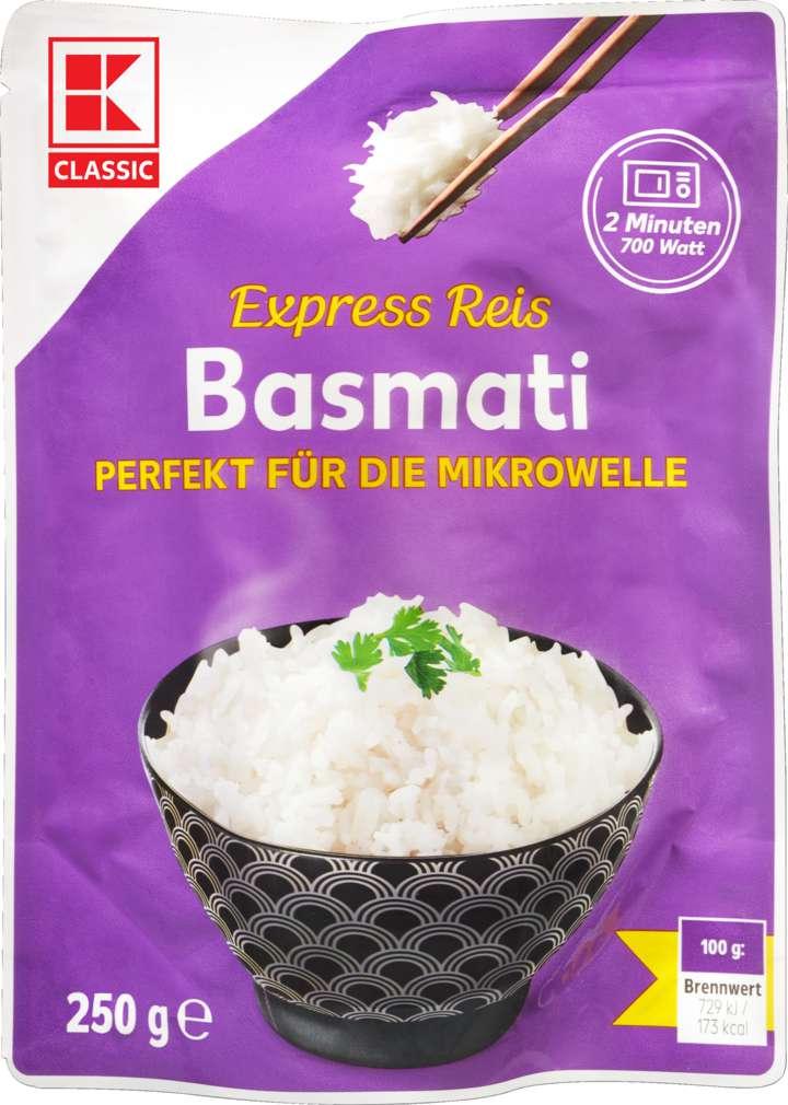 Abbildung des Sortimentsartikels K-Classic Basmati Reis für die Mikrowelle 250g