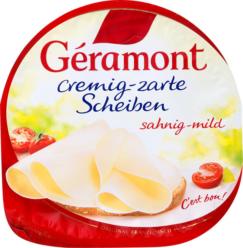 Abbildung des Sortimentsartikels Géramont Cremig-zarte Scheiben sahnig-mild 150g