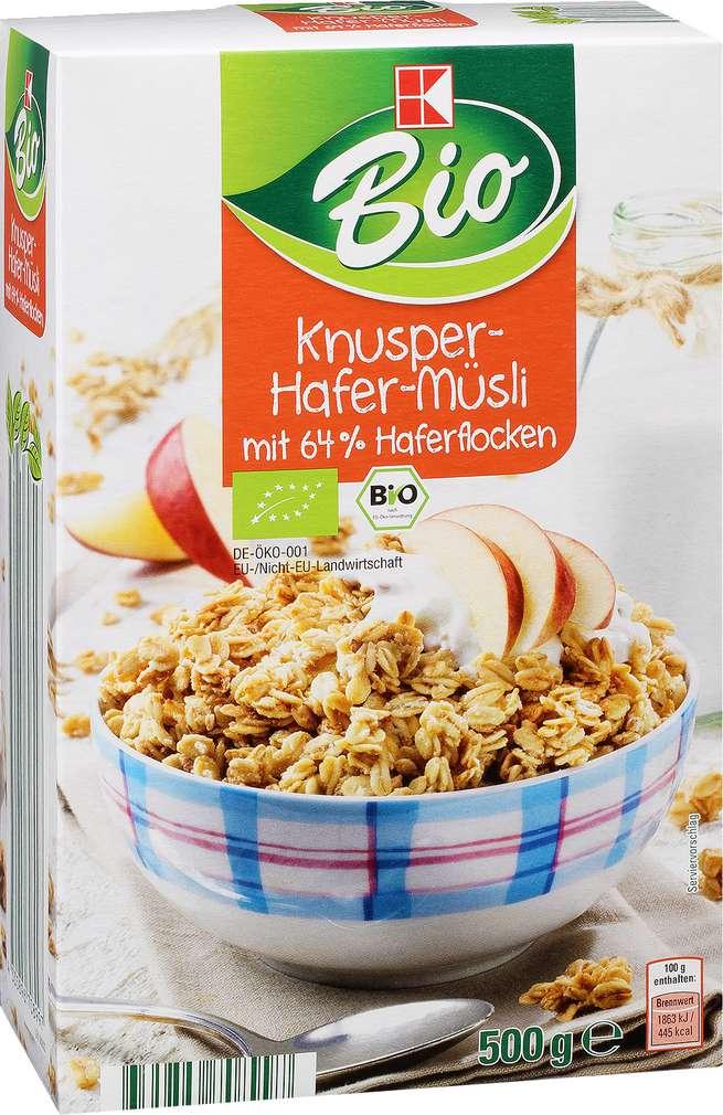 Abbildung des Sortimentsartikels K-Bio Knusper-Hafer-Müsli 500g