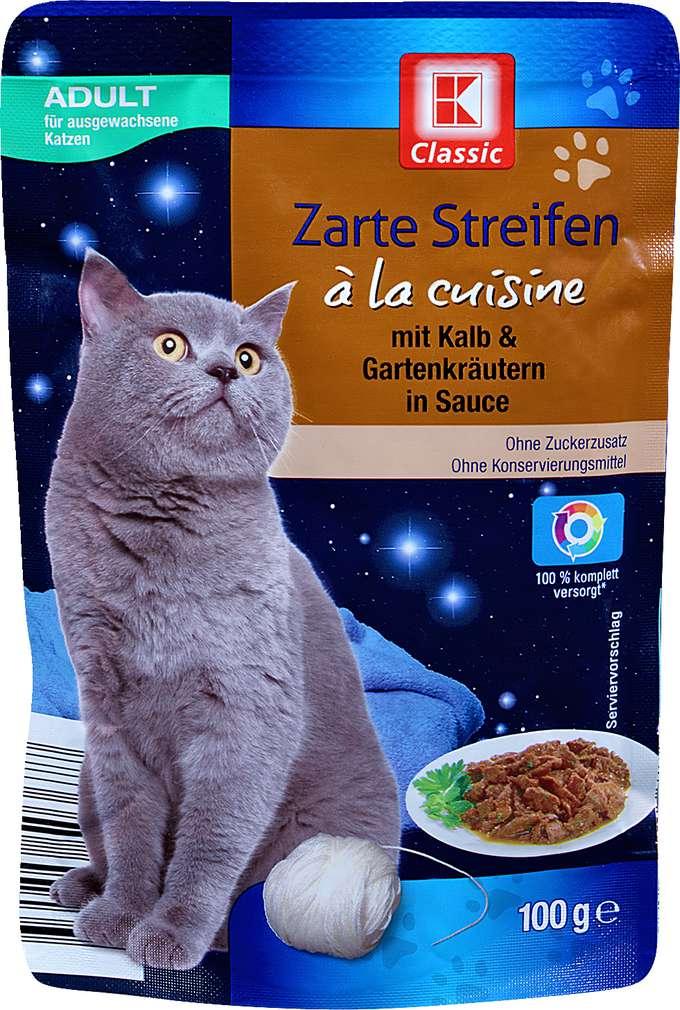 Abbildung des Sortimentsartikels K-Classic Katzennahrung Kalb+Gartenkräuter 100g