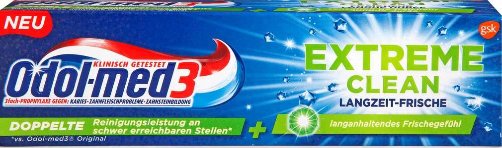 Abbildung des Sortimentsartikels Odol-med 3 Zahncreme Extreme Clean Langzeitfrische 75ml