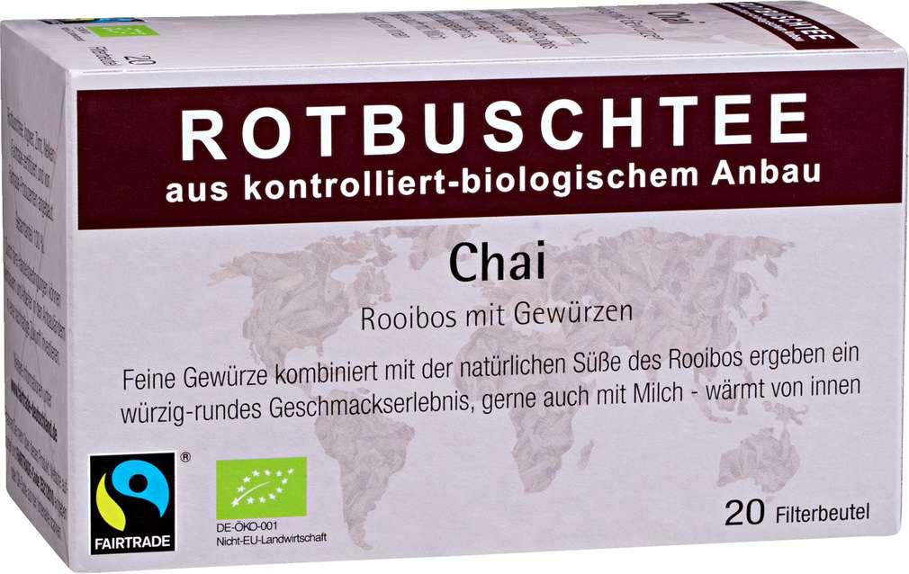 Abbildung des Sortimentsartikels Abtswinder Rotbuschtee Chai Rooibos 20x2g