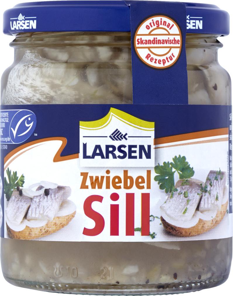 Abbildung des Sortimentsartikels Larsen Zwiebel Sill 250g