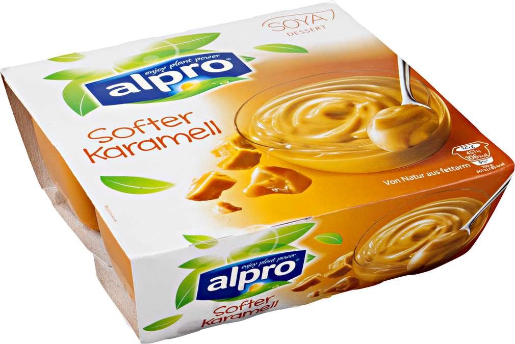 Abbildung des Sortimentsartikels Alpro Soja Dessert Caramel laktosefrei, vegan 4x125g